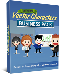Vector-Cartoon-Characters-Business-Pack-Box-250